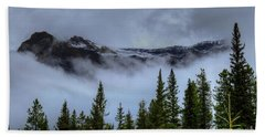 Misty Morning Jasper National Park Beach Towel