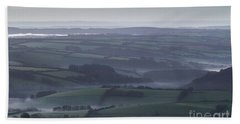Misty Morning On Exmoor  Beach Towel