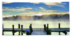 Beach Towel featuring the photograph Misty Morning On Rock Creek by Brian Wallace
