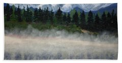 Misty Morning On The Mountain Beach Towel