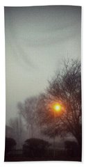 Beach Towel featuring the photograph Misty Morning by Persephone Artworks