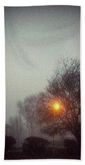 Misty Morning Beach Sheet by Persephone Artworks