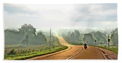 Misty Morning Ride Arkansas Beach Sheet
