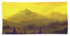 Misty Mountain Gold 01 Beach Sheet