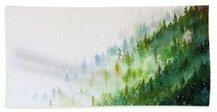 Misty Mountains Beach Towel