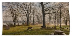 Misty November Picnic Grove Beach Towel