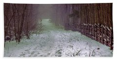 Misty Path #e5 Beach Sheet by Leif Sohlman