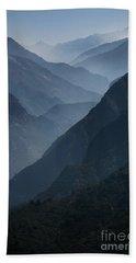 Misty Peaks Beach Towel
