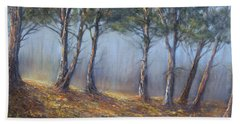 Misty Pines Beach Sheet by Valerie Travers