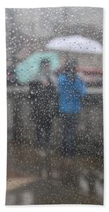 Misty Rain Beach Towel