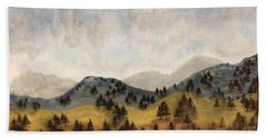 Misty Rain On The Mountain Beach Towel