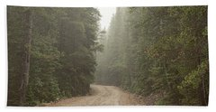 Beach Towel featuring the photograph Misty Road by James BO Insogna