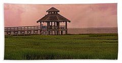 Beach Sheet featuring the photograph Misty Sunrise At Look Out Point by Ella Kaye Dickey