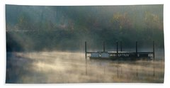 Beach Towel featuring the photograph Misty Sunrise by George Randy Bass