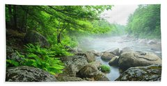 Misty Waters Beach Towel