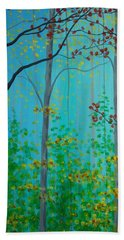Misty Woods Beach Towel