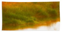 Misty Yellow Hue -lone Jacana Beach Towel