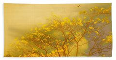 Misty Yellow Hue -poui Beach Towel