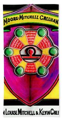 Mitchell-creehan Ancestral Healing Family Crest Beach Towel
