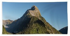 Beach Sheet featuring the photograph Mitre Peak Rahotu by Gary Eason