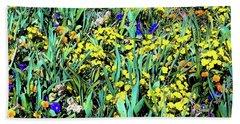 Mixed Flower Garden 515 Beach Towel