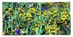 Mixed Flower Garden 515 Beach Sheet