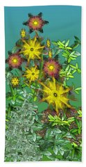Mixed Flowers Beach Towel