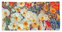 Mixed Poppies Beach Towel
