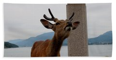 Miyajima Deer Beach Towel