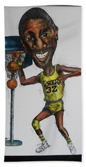 Mj Caricature Beach Towel