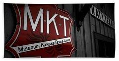 Mkt Railroad Lines Beach Towel