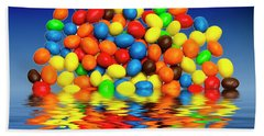 Beach Towel featuring the photograph Mm Chocolate Sweets by David French