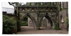 Moat At Inveraray Castle In Argyll Beach Towel