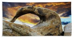 Beach Towel featuring the photograph Mobious Arch California 7 by Bob Christopher