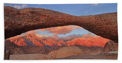 Mobius Arch In Alabama Hills Beach Towel