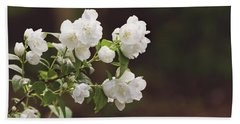 Beach Towel featuring the photograph Mock Orange Blossoms by Kim Hojnacki