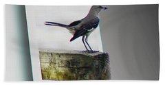 Mockingbird - Use Red-cyan 3d Glasses Beach Towel