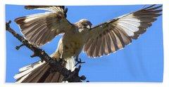 Mockingbird Sees Me I Beach Towel