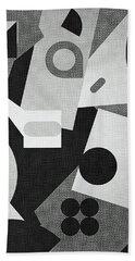 Mod, Grayscale Beach Towel