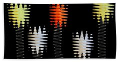 Mod Tulips Up And Down Beach Towel by Marsha Heiken