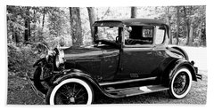 Model A In Black And White Beach Towel