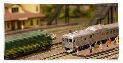 Model Trains Beach Towel by Patrice Zinck