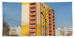 Beach Towel featuring the photograph Modern Apartment Buildings by Juli Scalzi
