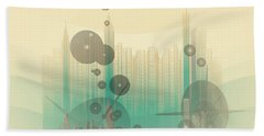 Modern City Abstract Beach Towel