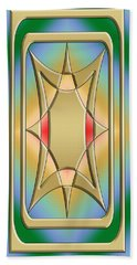 Modern Designs Vertical 4 - Chuck Staley Beach Towel by Chuck Staley