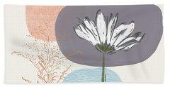 Modern Fall Floral 2- Art By Linda Woods Beach Towel