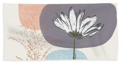 Modern Fall Floral 2- Art By Linda Woods Beach Towel