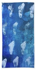 Beach Towel featuring the painting Modern Fossil by Robin Maria Pedrero