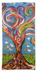Modern Impasto Expressionist Painting  Beach Towel