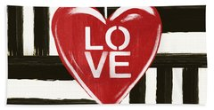 Modern Love- Art By Linda Woods Beach Towel